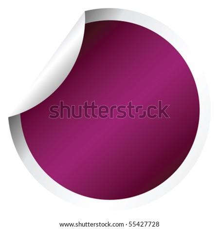 Purple sticker - stock vector