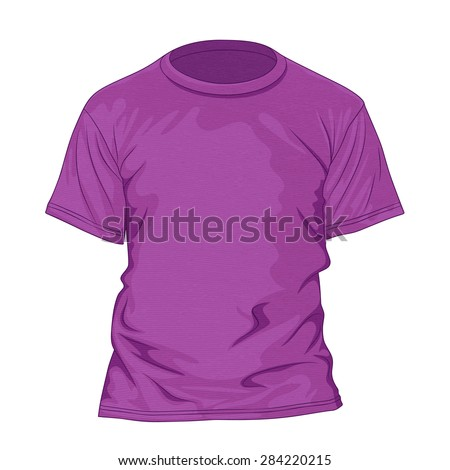 Purple t-shirt with texture. Design template. Vector illustration - stock vector