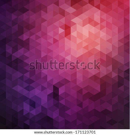 Purple triangles background - stock vector