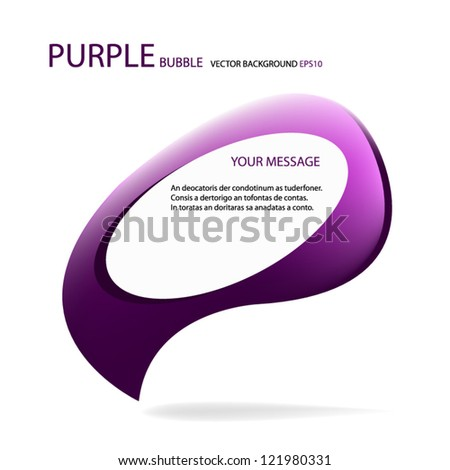 Purple vector background eps10 art bubble for message and design - stock vector