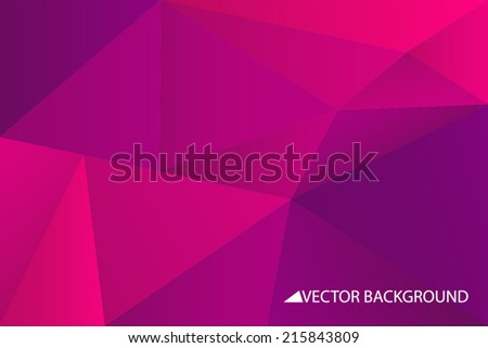 Purple vector background with triangles, triangle design, geometrical pattern with polygons - stock vector