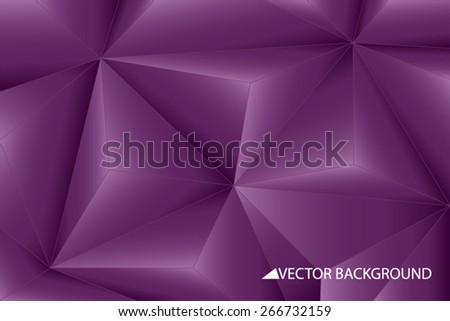 Purple vector background with triangles, triangle design, geometrical pattern with polygons, pyramids