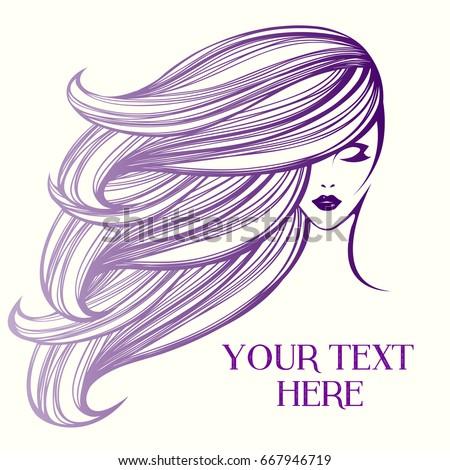 beauty female face logo designcosmetic salon stock vector