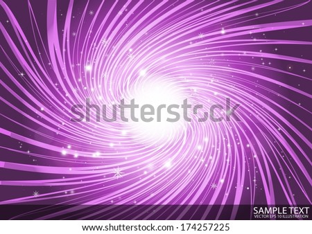 Purple vortex space abstract background illustration  - Vector abstract vortex illustration template - stock vector