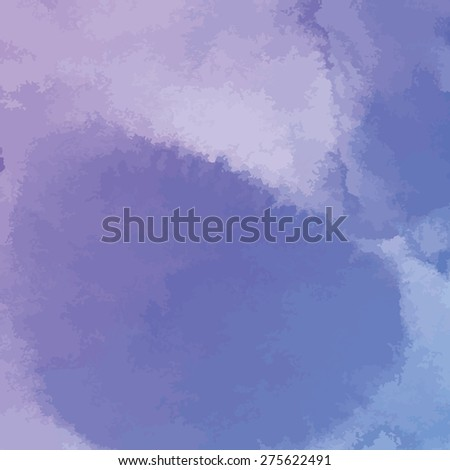 purple watercolor texture background, hand painted vector illustration - stock vector