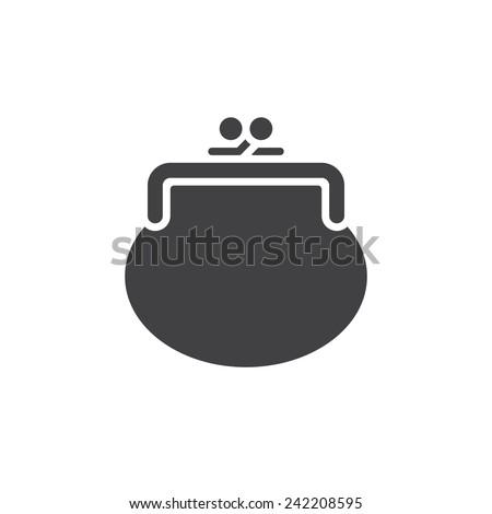 Purse icon (flat design) - stock vector