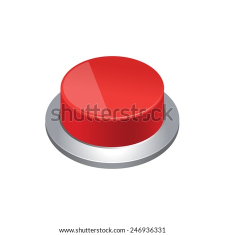 Push button - stock vector