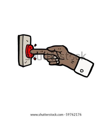 push the button cartoon - stock vector