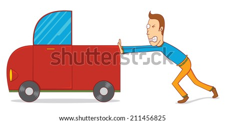Man Pushing Car Stock Images Royalty Free Images