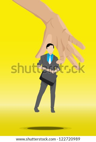 put the work man on the right job - stock vector