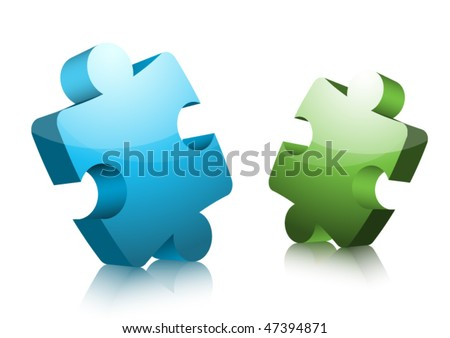 Puzzle - stock vector