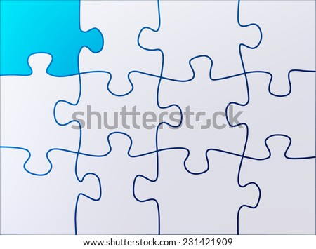 Puzzle abstract shapes background - stock vector