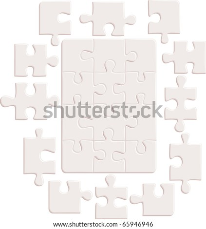 Puzzle background. Vector illustration - stock vector