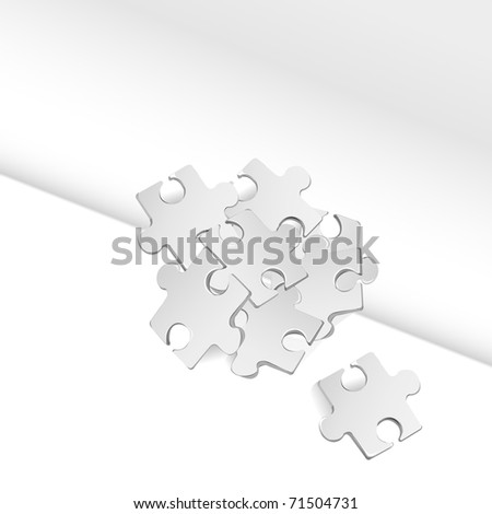 puzzle background vector illustration - stock vector