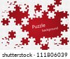 Puzzle background with place for text - stock vector