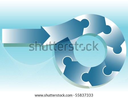 Puzzle Flow Chart - stock vector
