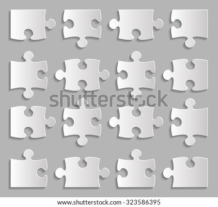 puzzle for Infographic vector illustration
