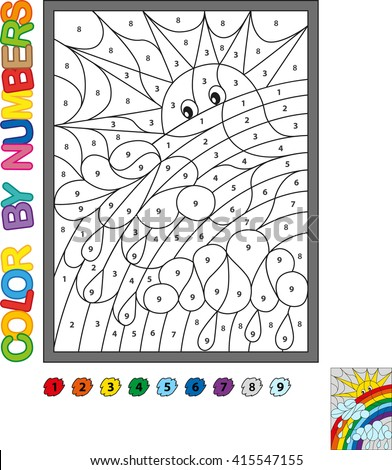 Color By Numbers Vector Coloring Book