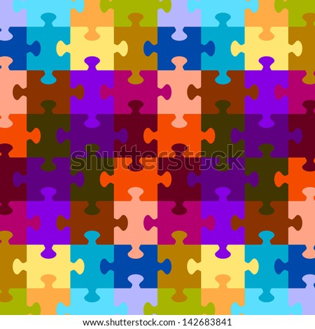 puzzle game color background vector