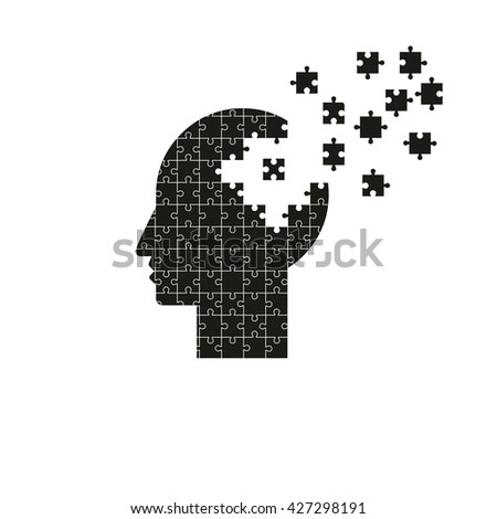 Puzzle heads vector - stock vector