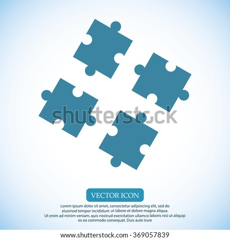 puzzle icon - stock vector