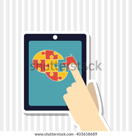 Puzzle icon design, vector illustration - stock vector