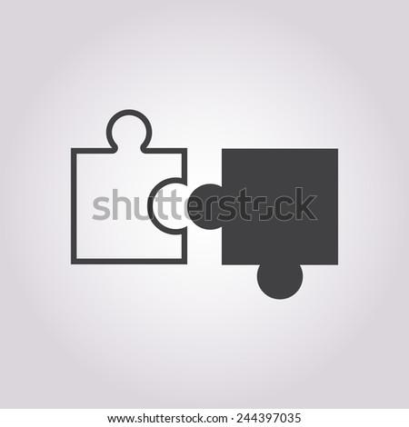 Puzzle Icon Vector.  - stock vector