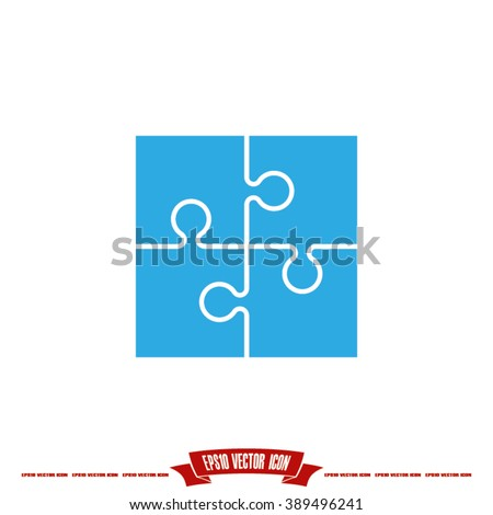 puzzle icon vector illustration eps10. - stock vector