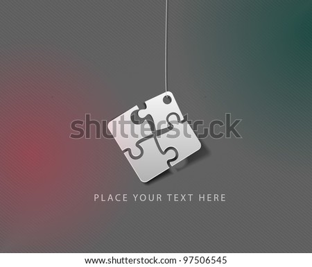 Puzzle icon vector illustration. Eps 10. - stock vector