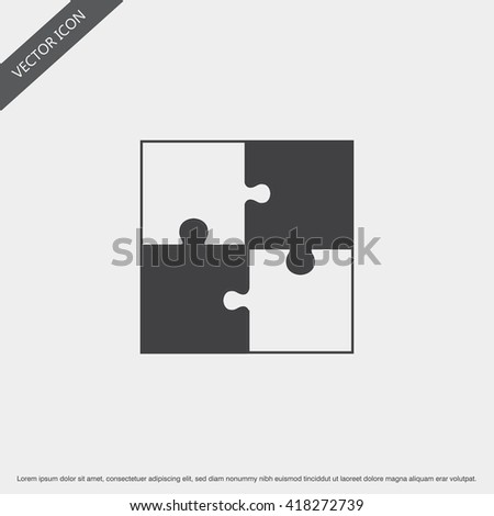 Puzzle Icon.Vector Puzzle Sign.