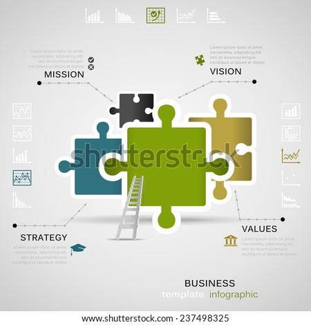 Puzzle inforgraphic - stock vector