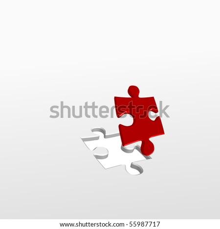 puzzle piece - stock vector