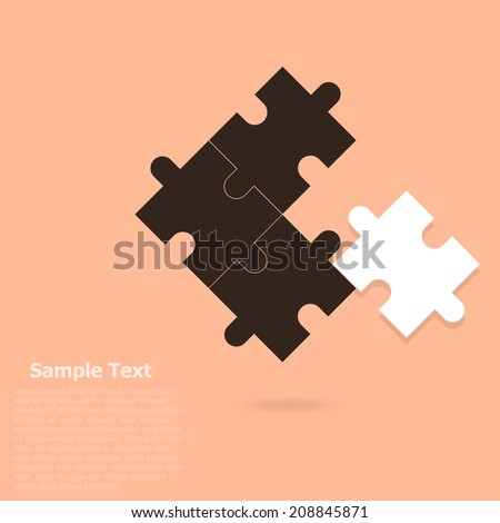 Puzzle piece infographics business concept vector - stock vector
