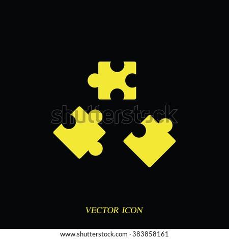 Puzzle pieces icon.  - stock vector