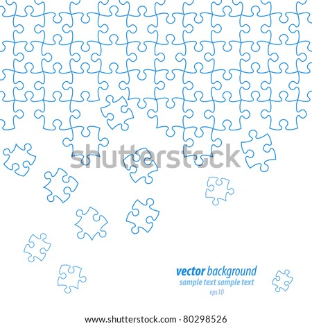 Puzzle pieces vector design - stock vector