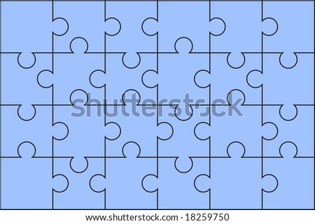 Puzzle solved - stock vector