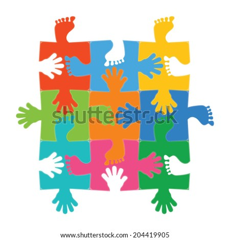 Puzzle vector illustration. - stock vector