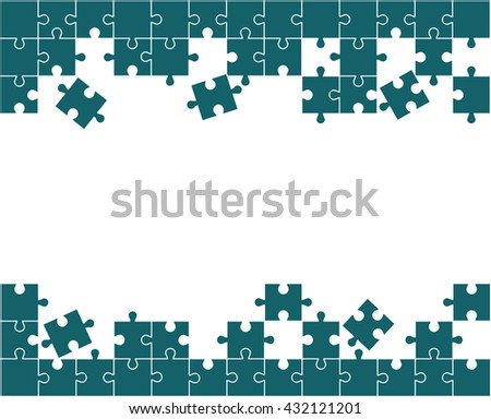 Puzzle vector illustration. Eps 10. - stock vector