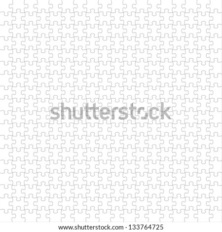 Puzzle white - stock vector