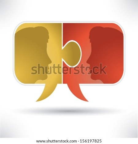 Puzzles People - stock vector
