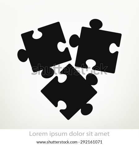 Puzzles piece icon , vector illustration. Flat design style - stock vector