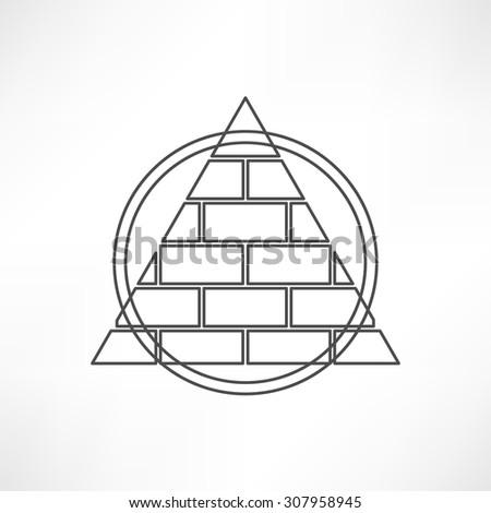 Pyramid - stock vector