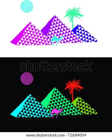 Pyramid Egypt Theme - stock vector