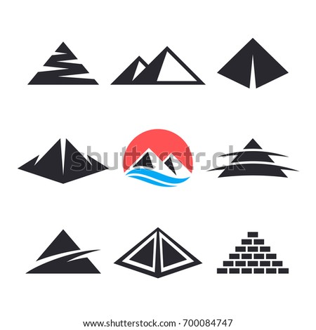 pyramid logo design elements stock vector royalty free 700084747