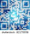 qr code background - stock photo
