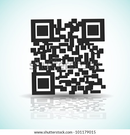 QR code background with shadow - stock vector