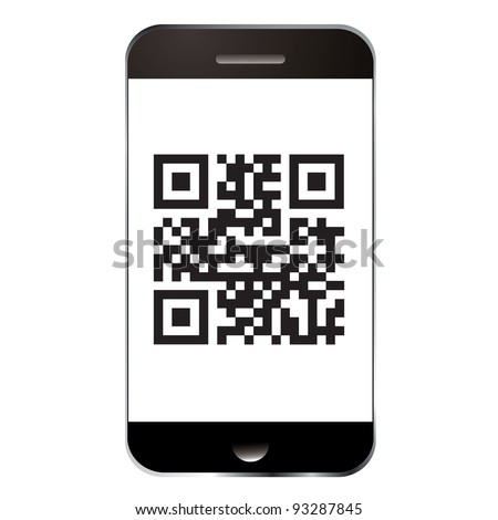 Qr code for scanning with smart mobile or cell phone