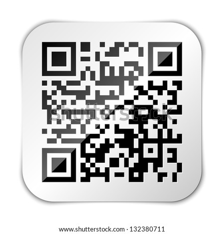QR code icon - stock vector