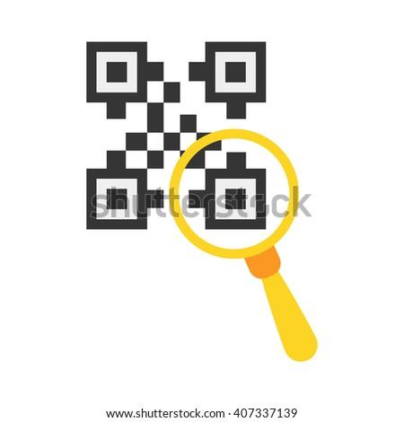 QR code icon. QR code icon vector. QR code icon simple. QR code icon app. QR code icon web. QR code icon logo. QR code icon sign. QR code icon ui. QR code icon flat. QR code icon eps. QR code icon art - stock vector