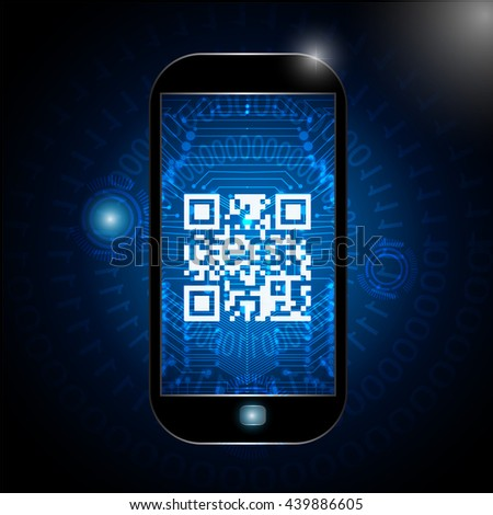 qr code icon, vector scanning qr code sign. Code reads: marry me. - stock vector